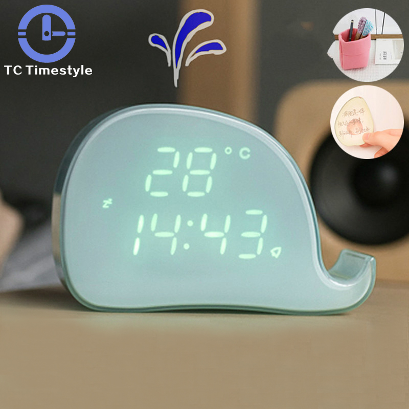 Lamps & Shades Creative Bedroom Induction Night Light Cloud Weather Time Light Alarm Clock Ali Smart Reminder Bedside Decoration Clock Lights & Lighting