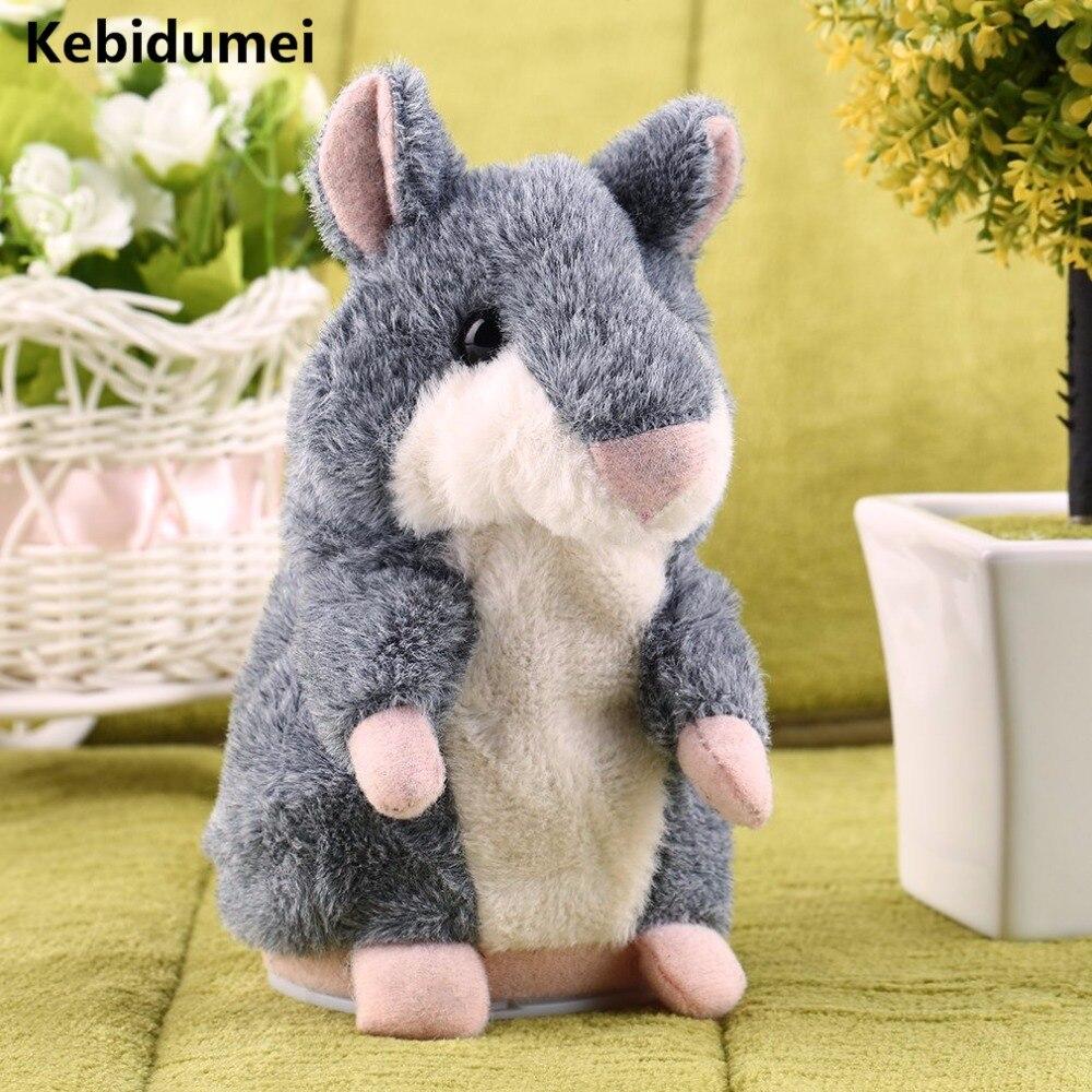 Kebidumei Premium Qualität Nette Russische Hamster Weiche Spielzeug Smart Aufnahme Imitieren Sprechen Papagei Puppe Geschenk Für Kind Kind Herausragende Eigenschaften Tragbares Audio & Video Unterhaltungselektronik