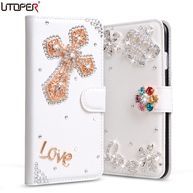 finest selection 12bce a0038 US $6.99 40% OFF|UTOPER Luxury Rhinestone Case For Lenovo K8 Note Case Flip  PU Leather For Lenovo K8 Note Phone Case For Lenovo K8 Note Cover-in ...