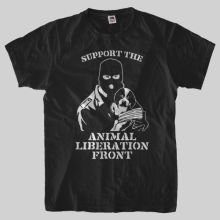 SUPPORT THE ANIMAL LIBERATION FRONT t-shirt