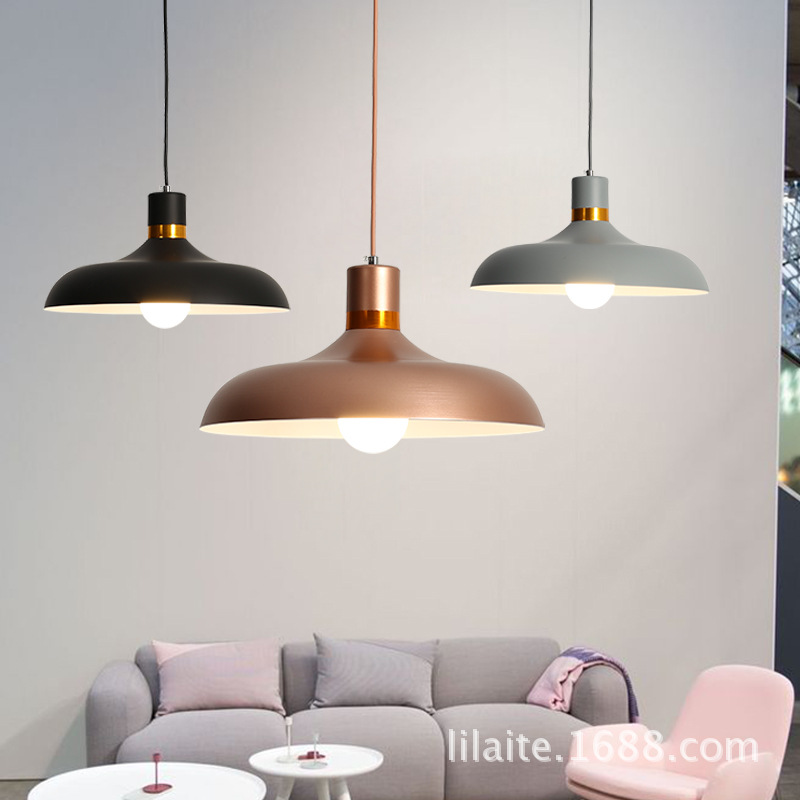 US $55.5 40% OFF|Nordic Pendant Lights Macaron Aluminum LED pendant lamp  Colorful Hanglamp for living room Kitchen Light Ceiling Fixtures-in Pendant  ...