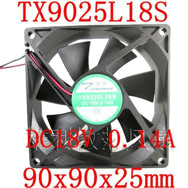 Free Shipping  New original TX9025L18S 18V 0.14A 8CM 90x90x25mm refrigerator cooling fan gnc women s ultra mega active without iron 90 caplets free shipping u s a original imported