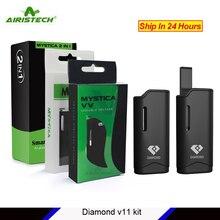 Original Airistech Diamond V11 Vaporizer kit airis cbd e cig kit 1.0ohm 650mah battery Magnetic Auto Vape pen for oil
