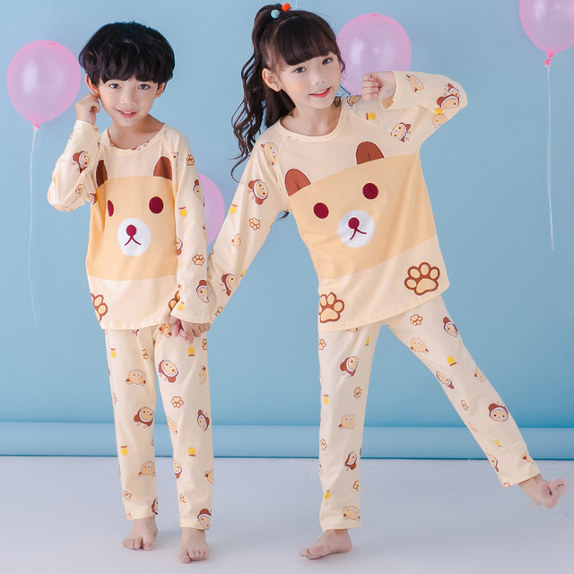 Children s Pajamas Set Autumn Long Sleeved Boy Pyjamas Girls Cute Cartoon  Home Cloth Big Children s Sleepwear Set Kids Pajamas cedbf3fce