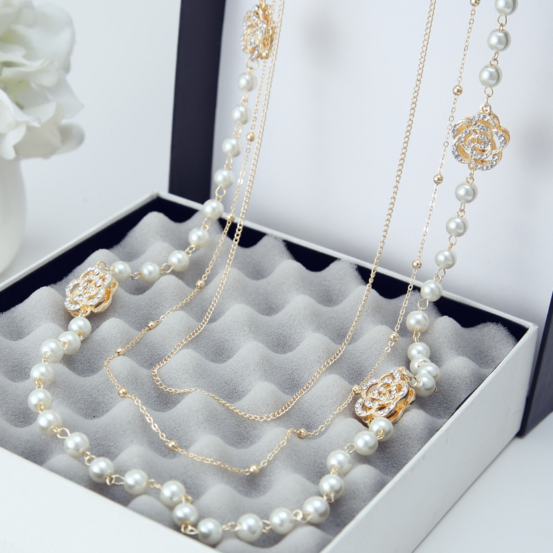 2016 New Fashion Vintage Multilayer Simulated Pearl s