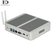 2017 Hot Intel i5 7200U i3 7100U Windows 10 Linux 4K HTPC HDMI VGA Fanless Mini Desktop PC max 16G RAM 8 USB