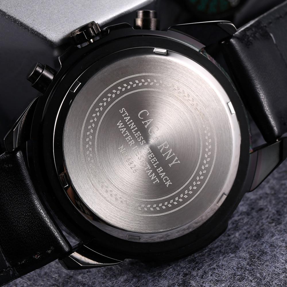 quartz wristwatches leather strap sports watches casual mens wrist watch black case 1 (4)
