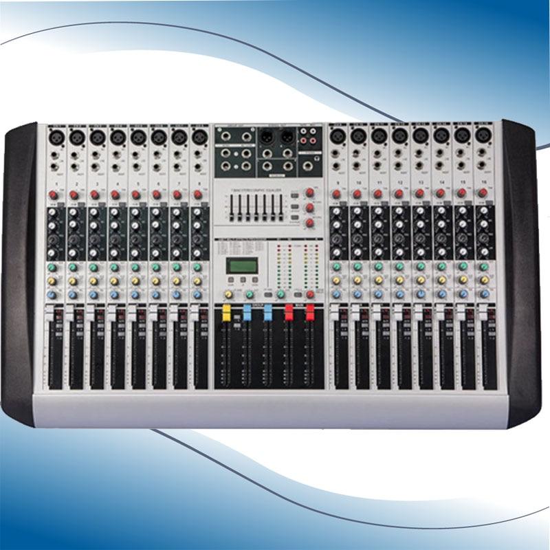 new professional audio dj mixer 16 channels mixing console mezcladora de dj hx1602 in stage. Black Bedroom Furniture Sets. Home Design Ideas
