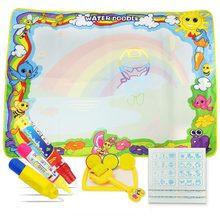 5 типов, большой размер, магический водный коврик для рисования с ручками и штампами, доска для рисования, холст для рисования, коврик для рисования, развивающие игрушки для детей