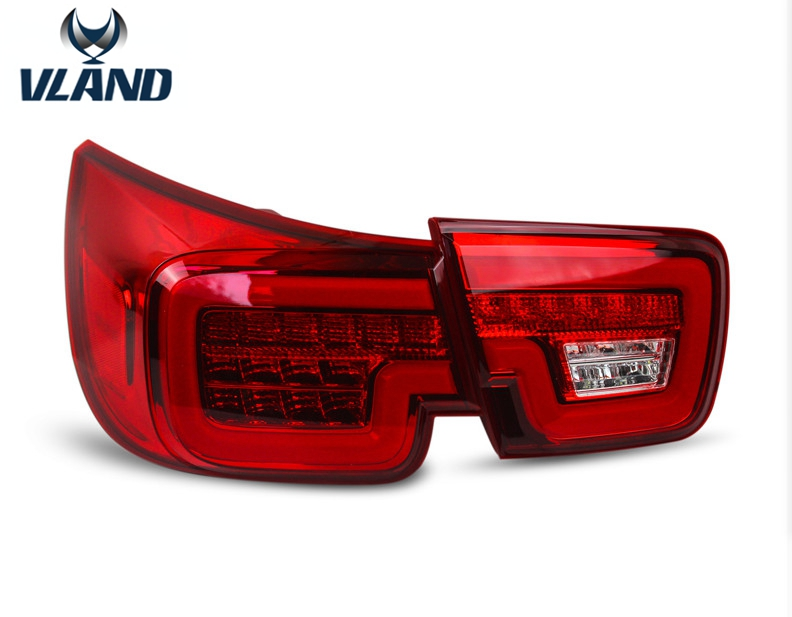 Free shipping vland factory for Malibu 2013 2014 2015 Newest LED Rear Tail Lights Kit  Car styling Lamp Accessories