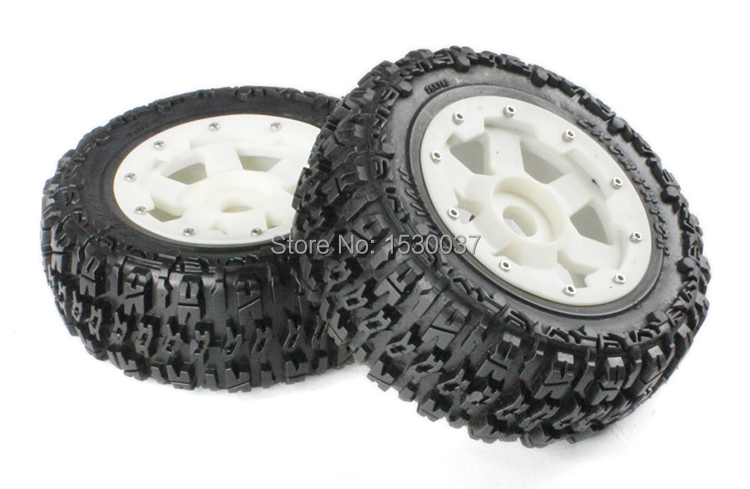 High strength nylon knobby Rear tire X 2pcs/set for 1/5 scale HPI BAJA 5T, free shipping 5t rear knobby wheel set for baja parts free shipping