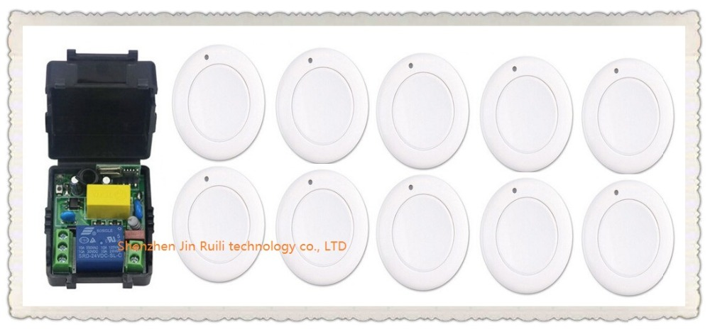 все цены на New multi-function output mode AC 220 V 1CH Wireless Remote Control Switch System Receiver & 10*White wall Panel Sticky Remote онлайн