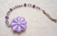 Персонализированные-Любое имя Принцессы фиолетовый цветок Bling Индивидуальные pacifier клипы/chain Манекен клип/Прорезыватели Для Зубов зажим для ребенка