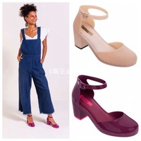 Melissa Shoes buckle Women's Sandal Fashion Rome Round Toe Sandals women sandals platform summer 2019 zapatos de mujer