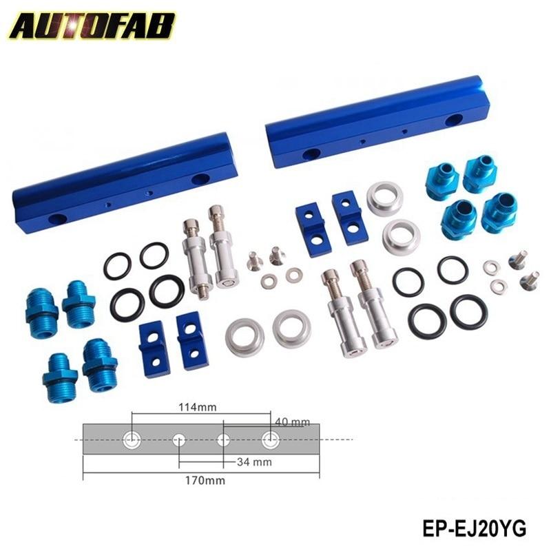 Prix pour AUTOFAB-HQ Top Injecteur High Flow Rail de Carburant Kit pour SUBARU WRX STI EJ20 EJ20T STI Bleu En Aluminium Billet AF-EJ20YG