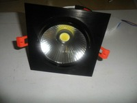 10pcs/lot 120*120mm 7w 10w Square Model Black Heat Sink Cob Down Light, With 120lm/w High Brightness,3 Years Warranty
