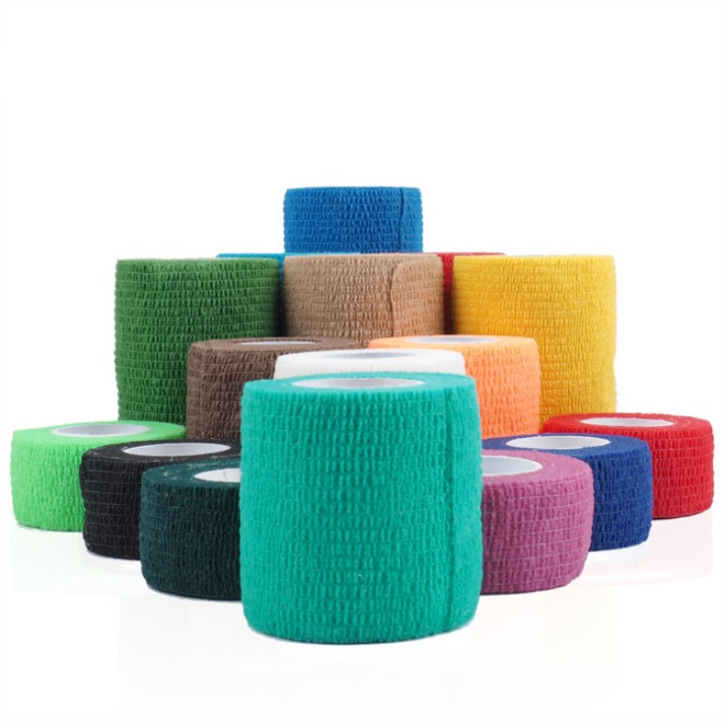 1 Pc Waterproof Medical Therapy Self Adhesive Bandage Muscle Tape Finger Joints Wrap First Aid Kit Pet Elastic Bandage 10 Colors