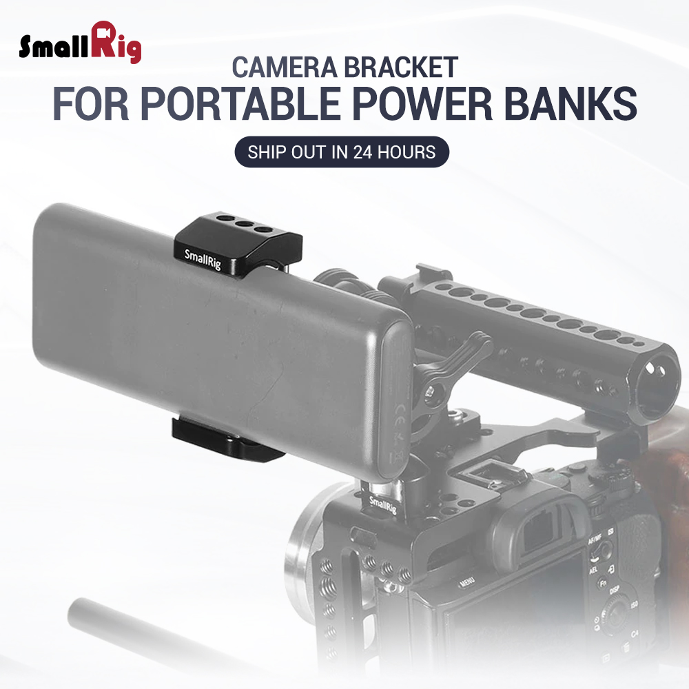 SmallRig Camera Bracket Power Bank Clamp Holder fr Portable Power Banks for Power bank with width ranging from 51mm to 87mm 2336-in Tripod Monopods from Consumer Electronics