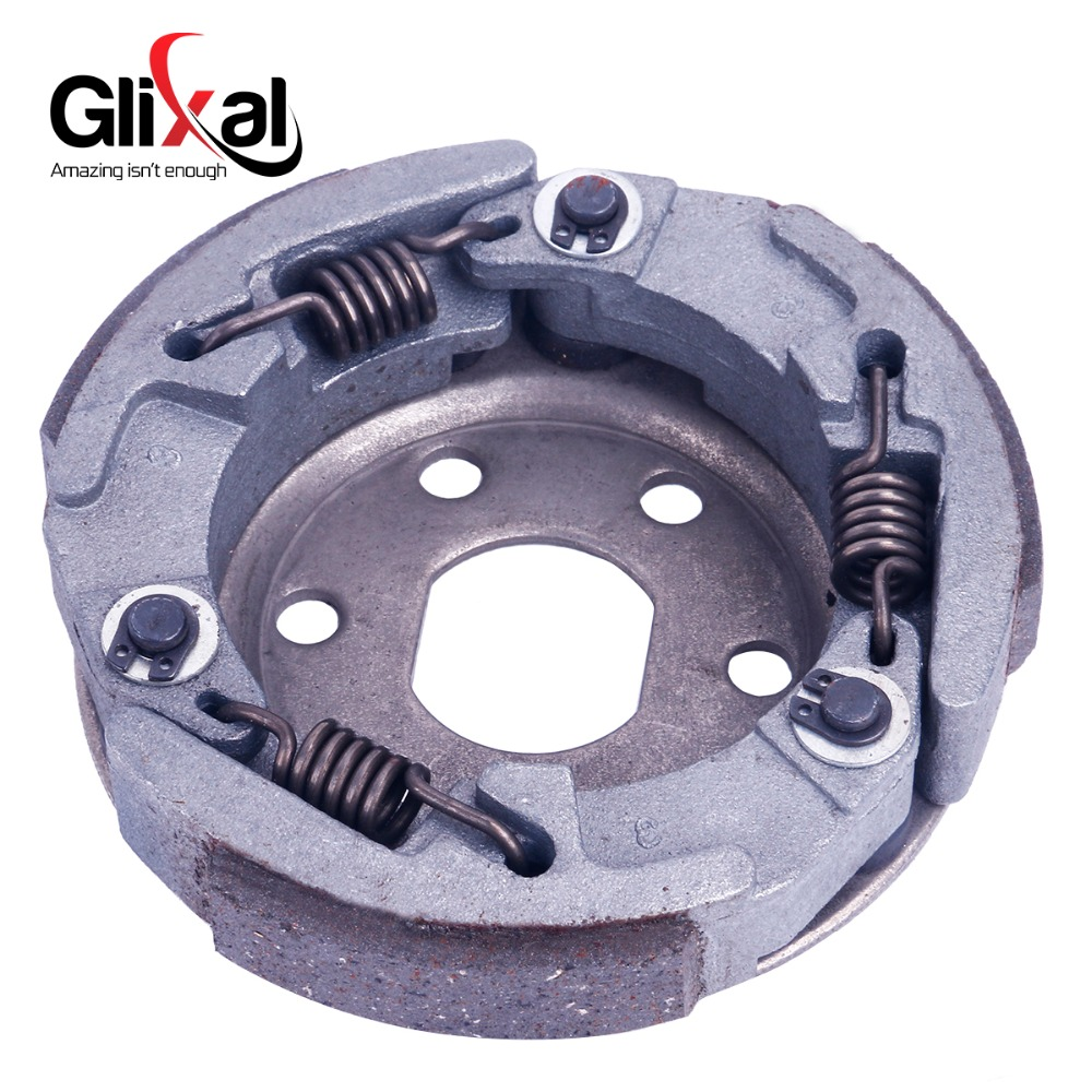 Glixal GY6 49cc 50cc Gas Scooter Rear Clutch Shoe Clutch Pate for 139QMB 139QMA Engine Moped ATV