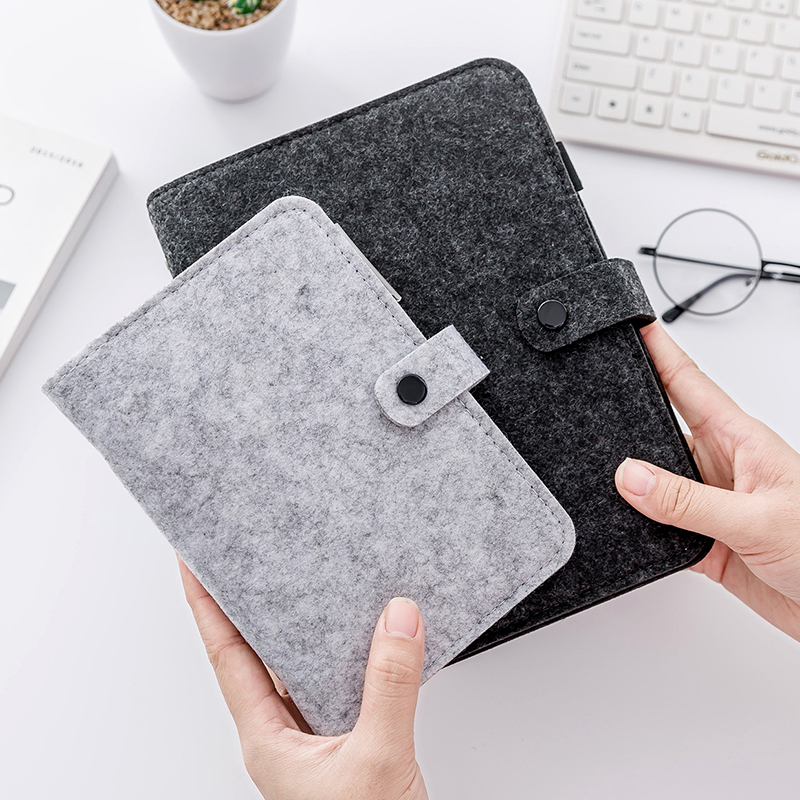 photo about Diy Planner Organizer referred to as Felt Generate Magazine Laptop computer Deal with A5 A6 Spiral 6 Holes Traditional Dokibook Diary Do-it-yourself Planner Organizer