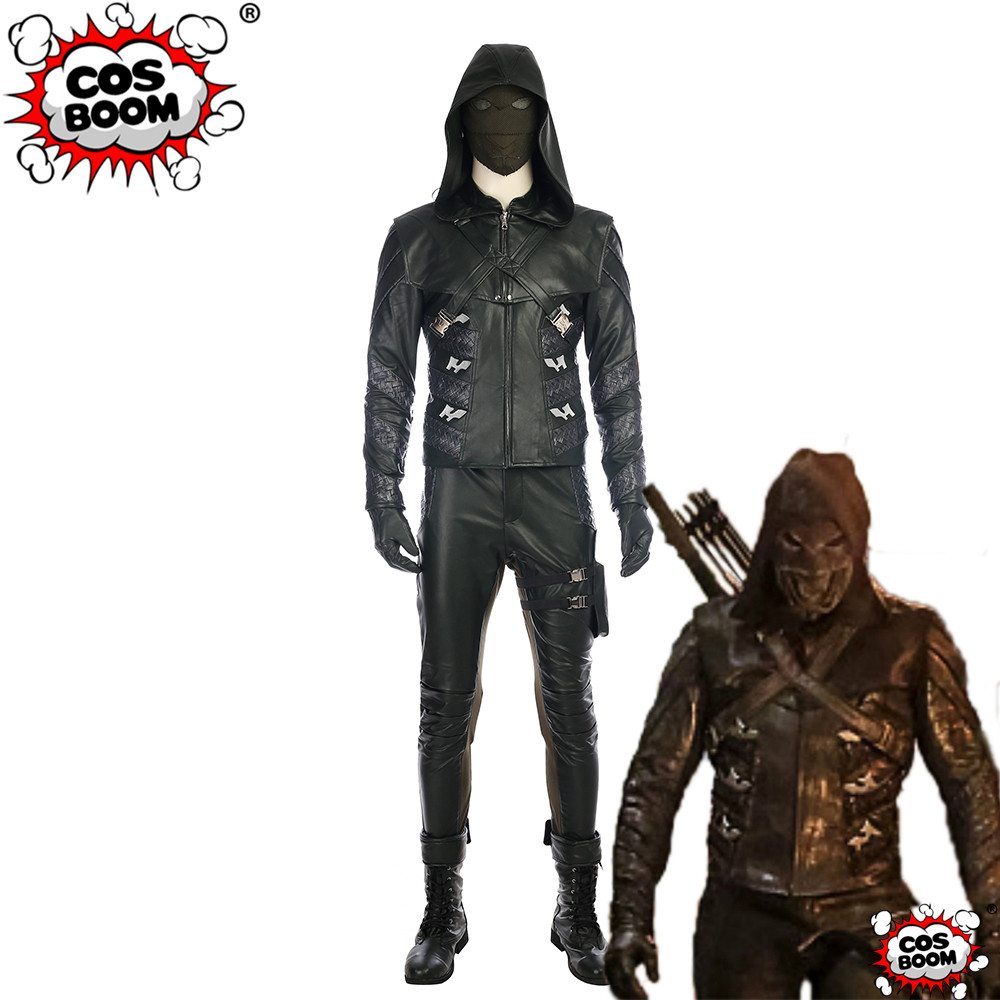 COSBOOM TV Series Arrow Season 5 Prometheus Costume Custom Made Adult Prometheus Adrian Chase Outfit Halloween Cosplay Costume