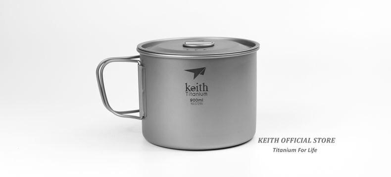 Keith canecas de água de titânio ao