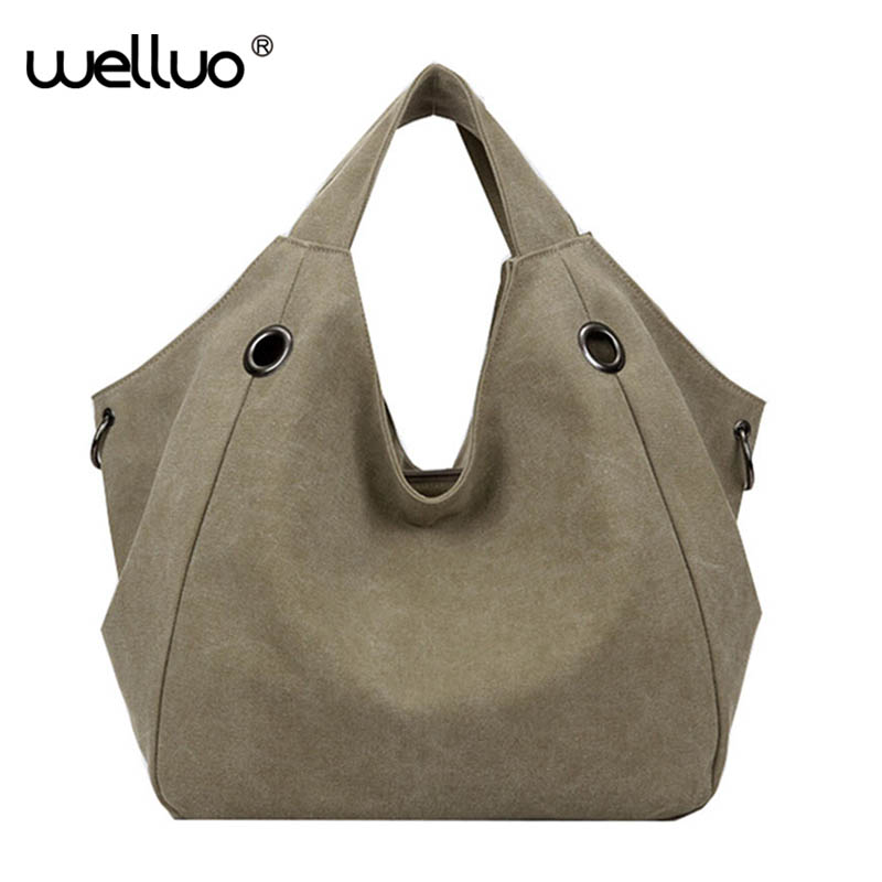 Women Shoulder Bags 2017 Bag Canvas Big Handbag Tote Shopping Bag Top-Handle Bag Sac a Main Femmes Bolsos Mujer Female XA883B