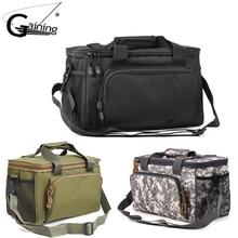 Waterproof Fishing Bag Large Capacity Multifunctional Lure Fishing Tackle Pack Outdoor Shoulder Bags 36*22*23cm