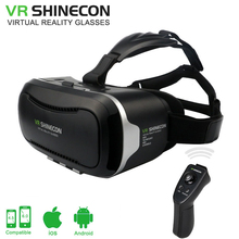 Google Cardboard VR Shinecon ii VR box 2.0 Virtual Reality goggles 3D Glasses for 4.5~6.0 inch iPhone samsung Smartphones