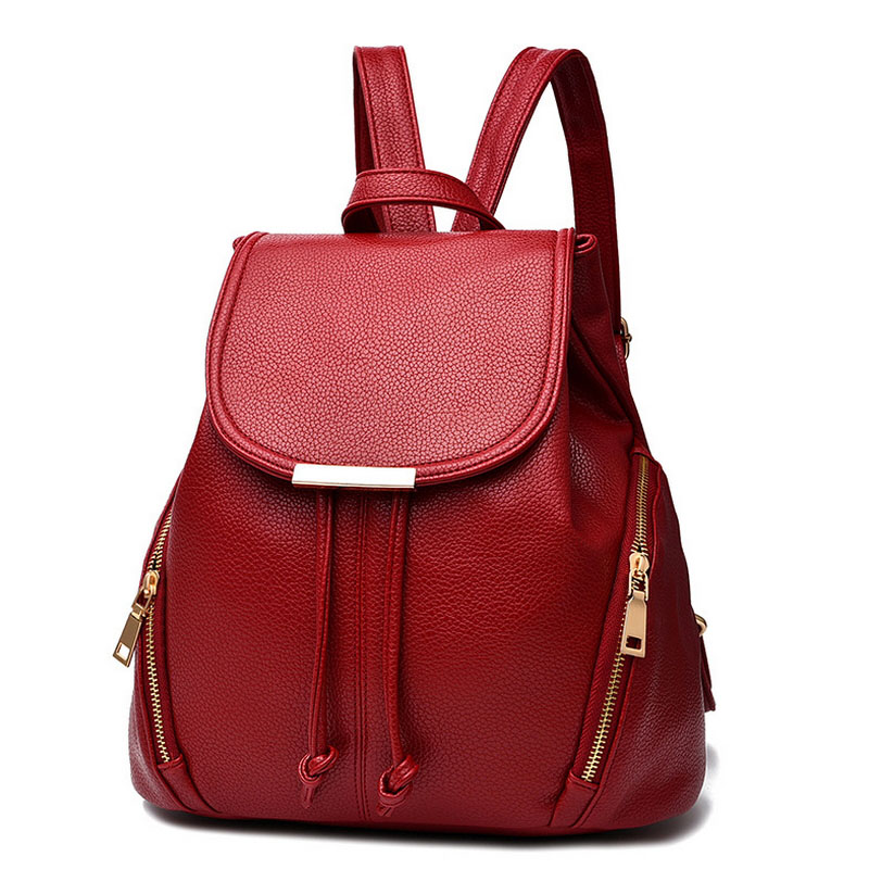Fashion Women backpacks for teenagers High Quality PU Spring ...