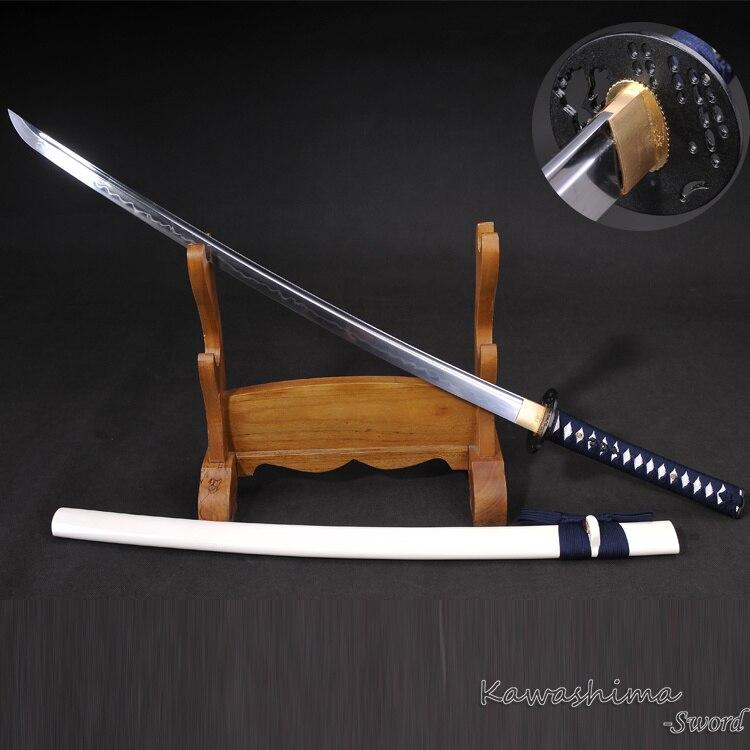 Handmade Katana1095 Carbon Steel Clay Tempered Real Samurai Sword