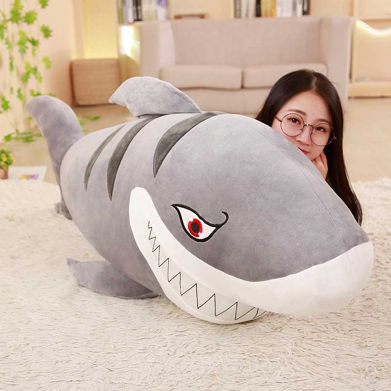 120cm Giant Plush Sharks Toys Stuffed Sea Fish Animals Big Size Shark Doll Pillows Cushion Toys For Children Birthday Gifts