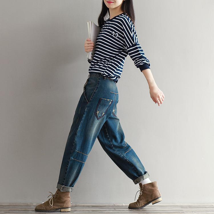 17 Winter Big Size Jeans Women Harem Pants Casual Trousers Denim Pants Fashion Loose Vaqueros Vintage Harem Boyfriend Jeans 5