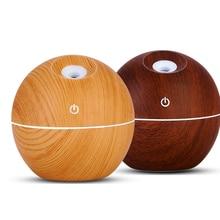 USB древесины эфирные масла диффузор 130 мл ультразвуковой увлажнитель бытовой аромат ароматерапия тумана со светодио дный