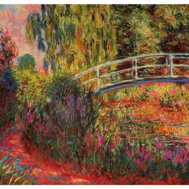Paesaggi arte Il Ponte Giapponese di claude Monet dipinti ad olio ...
