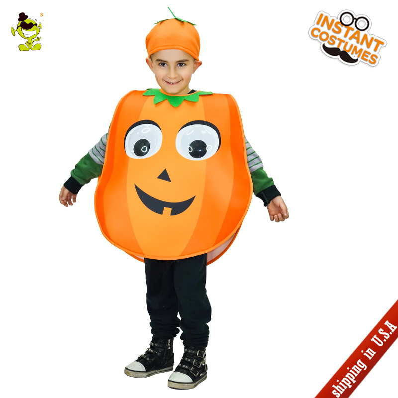 QLQ Unisex New Design Cute Pumpkin Costume Lovely Girls&Boys Halloween Kids Cosplay Outfits Clothings for Children