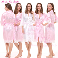 Fashion Lace Bath Robes Solid Bride Gown Soft Kimono Nightwear Wedding Clothes Sexy Stain Bathrobes Gown 8 Colors