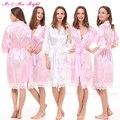 Roupões de Banho de moda Rendas Sólida Vestido Da Noiva Roupas De Casamento Sexy Stain Roupões Kimono Nightwear Macio Vestido de 8 Cores