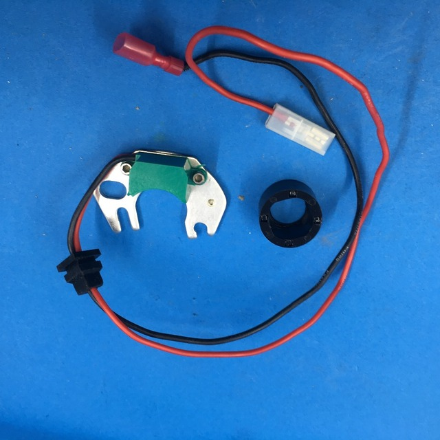 Electronic Ignition Conversion Kit Replaces Points in 4 cyl Hitachi Distributor-in Ignition Coil