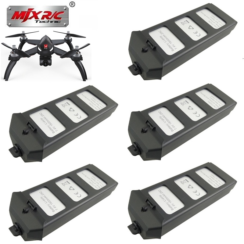 Original MJX R/C Bugs 5W B5W RC battery 7.4V 1800mAH 25c LiPo Battery RC Quadcopter drone spare parts accessories 1pcs to 10pcsOriginal MJX R/C Bugs 5W B5W RC battery 7.4V 1800mAH 25c LiPo Battery RC Quadcopter drone spare parts accessories 1pcs to 10pcs