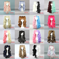 MCOSER Mixed Color Long Cury Sweet Lolita Wigs +2Ponytails Cosplay Wig Anime Party Hair Free Shipping