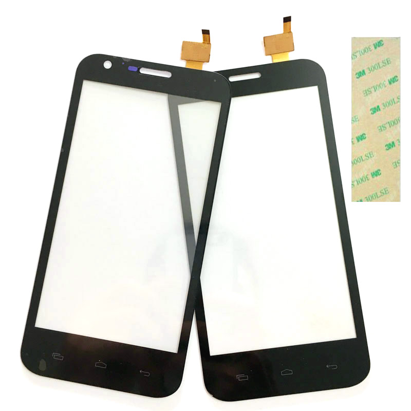 5.0 Phone Touchscreen For Prestigio MultiPhone PAP5501 Duo PAP 5501 Touch Screen Sensor Front Panel Digitizer Glass+3M Sticker