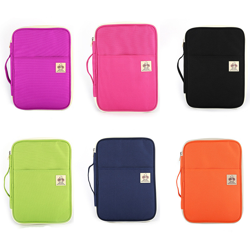 Multi-functional Filing Products Portable Waterproof Bag For Notebooks Pens Computer Briefcase A4 Document Make Up Bags