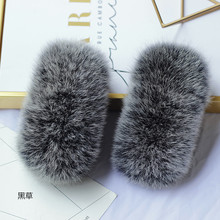 Fur Arm Cuffs For Sleeve Natural Real Fox Fur Fashion Genuine Fur Short Cuff Cute Arm Warmer Solid Color Wrist Warmer Soft
