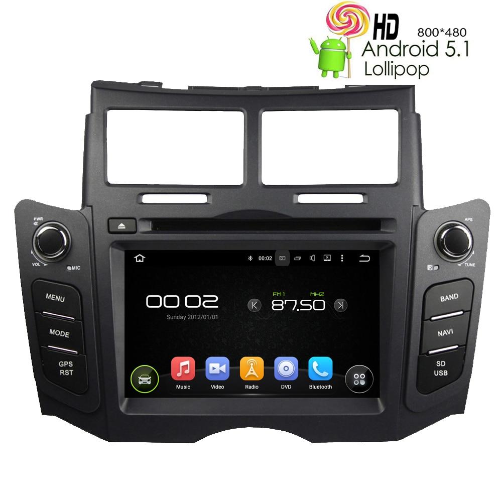 Car dvd player for toyota yaris 2005 2011 android 5 1 1 gps navigation radio