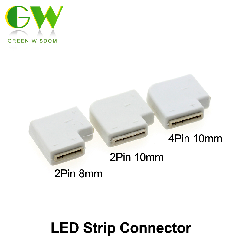 LED Strip Connector 2pin 8mm / 10mm 4pin 10mm Connectors For Led Strip Lights 5pcs/lot