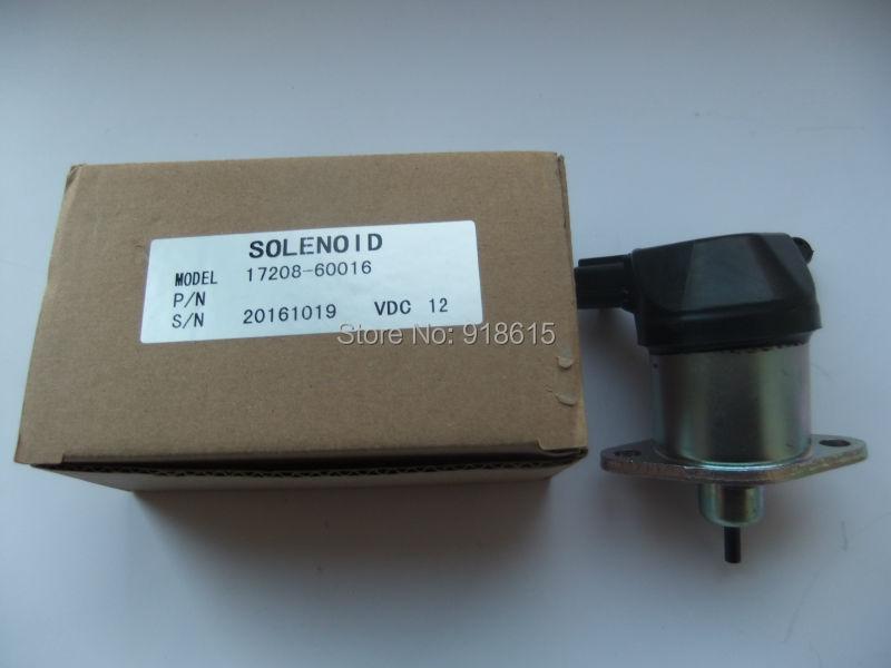17208-60016 stop solenoid valve J112 J116 J315 J320 EDL16000E EDL20000TE EDL26000TE generator parts replacement цены онлайн
