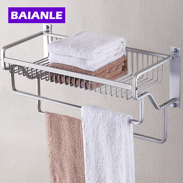 Modern Wall Mount Bathroom Towel Holder Aluminium Bathroom