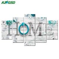 AZQSD Full Square Diamond Painting Landscape Home Multi Picture Combination Embroidery Cross Stitch Mosaic Home Decor