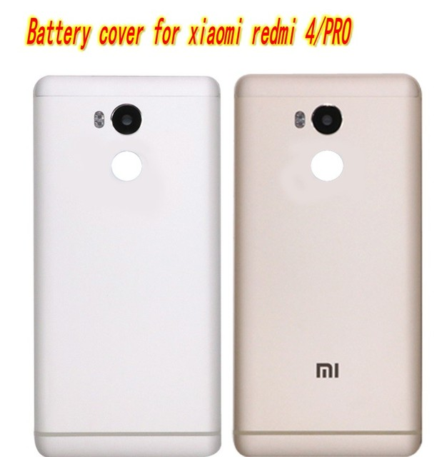Metal Back Shell Housing Door Battery Cover Case For Xiaomi Redmi 4 Pro xiaomi  redmi 4 batterery cover with  Camera Glass Lens